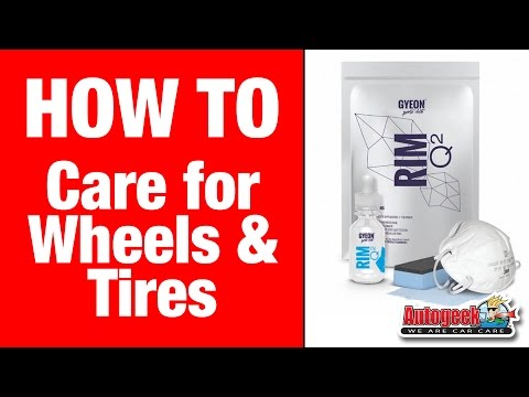 How to properly care for your tires and wheels - GYEON Wheel & Tire Care System