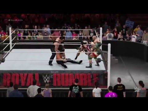 WWE Royal Rumble 2016 Match Simulation WWE 2K16