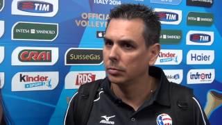 28-09-2014: barivolley2014 - Press conference after Belgium-Puertorico - Jose Mieles