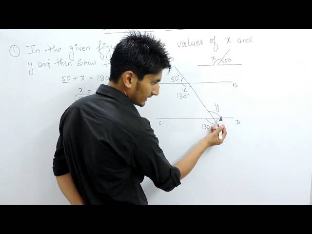 Exercise 6.2 (Lines and Angles) Question 1 NCERT/CBSE Solution for Class 9th Maths