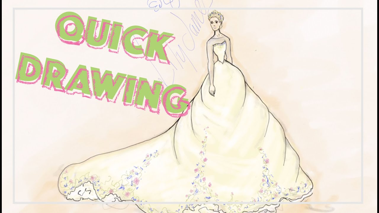 CINDERELLA WEDDING DRESS QUICK DRAW | BroomBroom