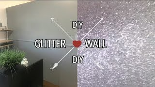 DIY GLITTER WALL | IAM_NETTAMONROE