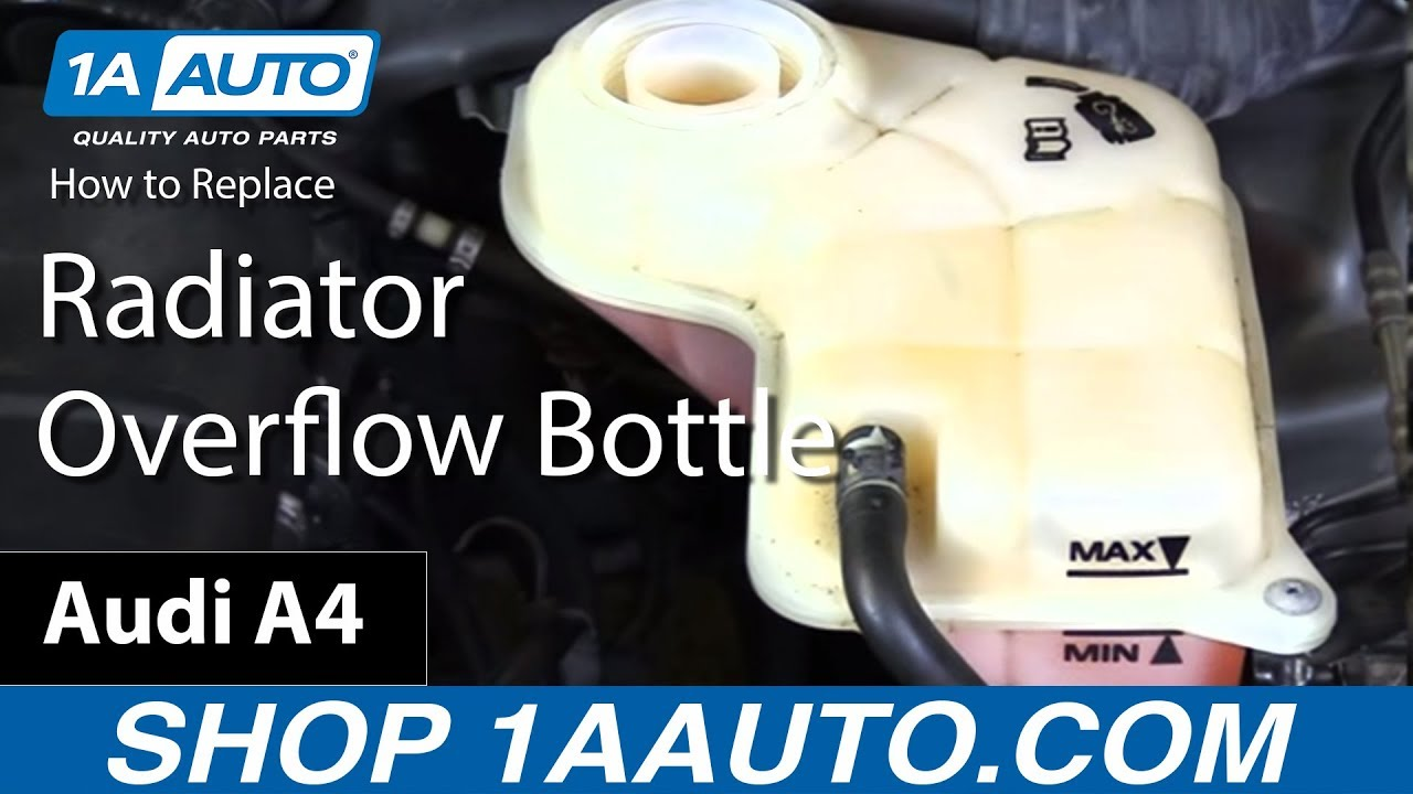 how to replace radiator overflow bottle 05 08 audi a4 1a auto parts [ 1280 x 720 Pixel ]