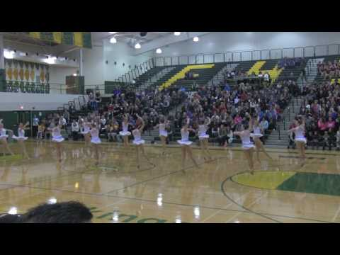 Lake Forest JVP Poms First Competition