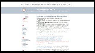 Armenian Phonetic Keyboard Layout for MAC OS X