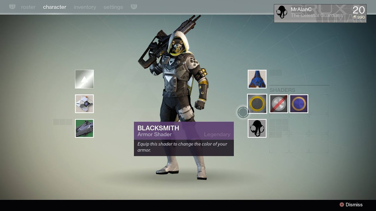 Destiny blacksmith shader bungie s destiny preorder bonus gamestop