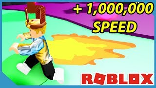Over 1 Million Speed!! - Roblox Speed Town