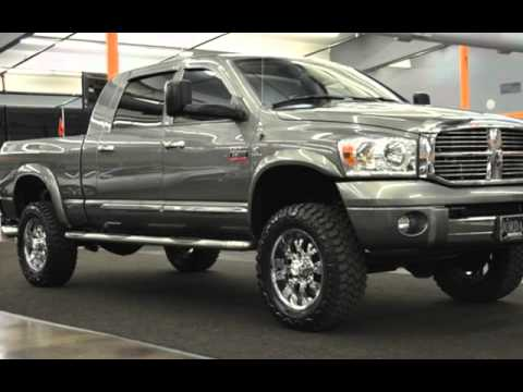2008 dodge ram 2500 laramie lifted cummins diesel mega cab crew cab for sale in milwaukie or. Black Bedroom Furniture Sets. Home Design Ideas