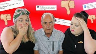On réagit à nos commentaires haineux ft. Papa Ordinaire!😱 |  2FILLESORDINAIRES