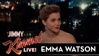 Emma Watson on Being Hit with Snowballs & Meeting Idol Celine Dion