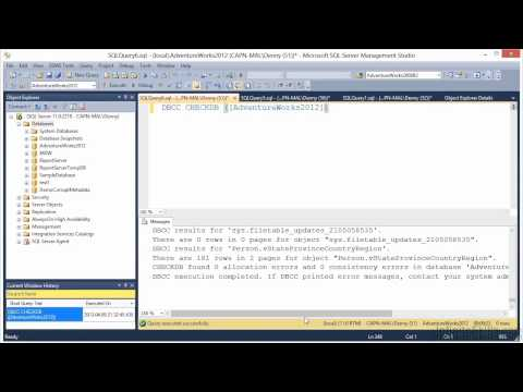 Microsoft SQL Server 70-462 Tutorial | DBCC CHECKDB