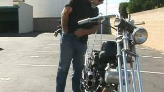 How to Kick Start a 1966 Harley-Davidson Custom Chopper