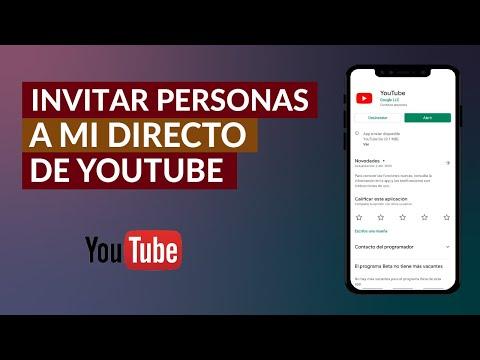 Cómo Configurar e Invitar a una Persona a mi Directo de YouTube