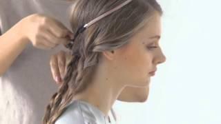 Видеоурок  прическа пучок из косичек