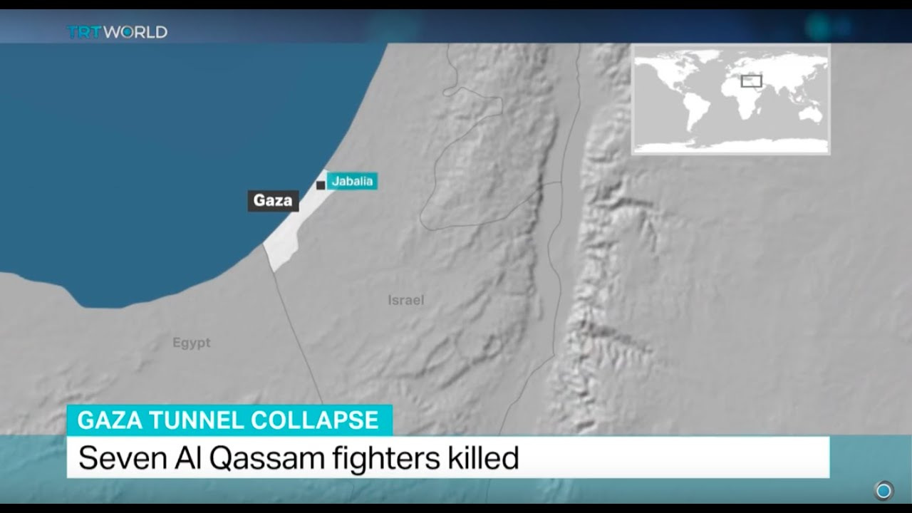 Gaza tunnels map