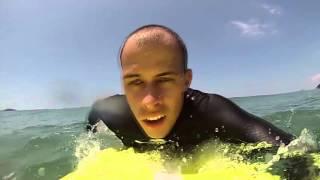 Surf Maresias - Iniciante (1 ano de surf . Furar onda + Drop 0.5 metro)