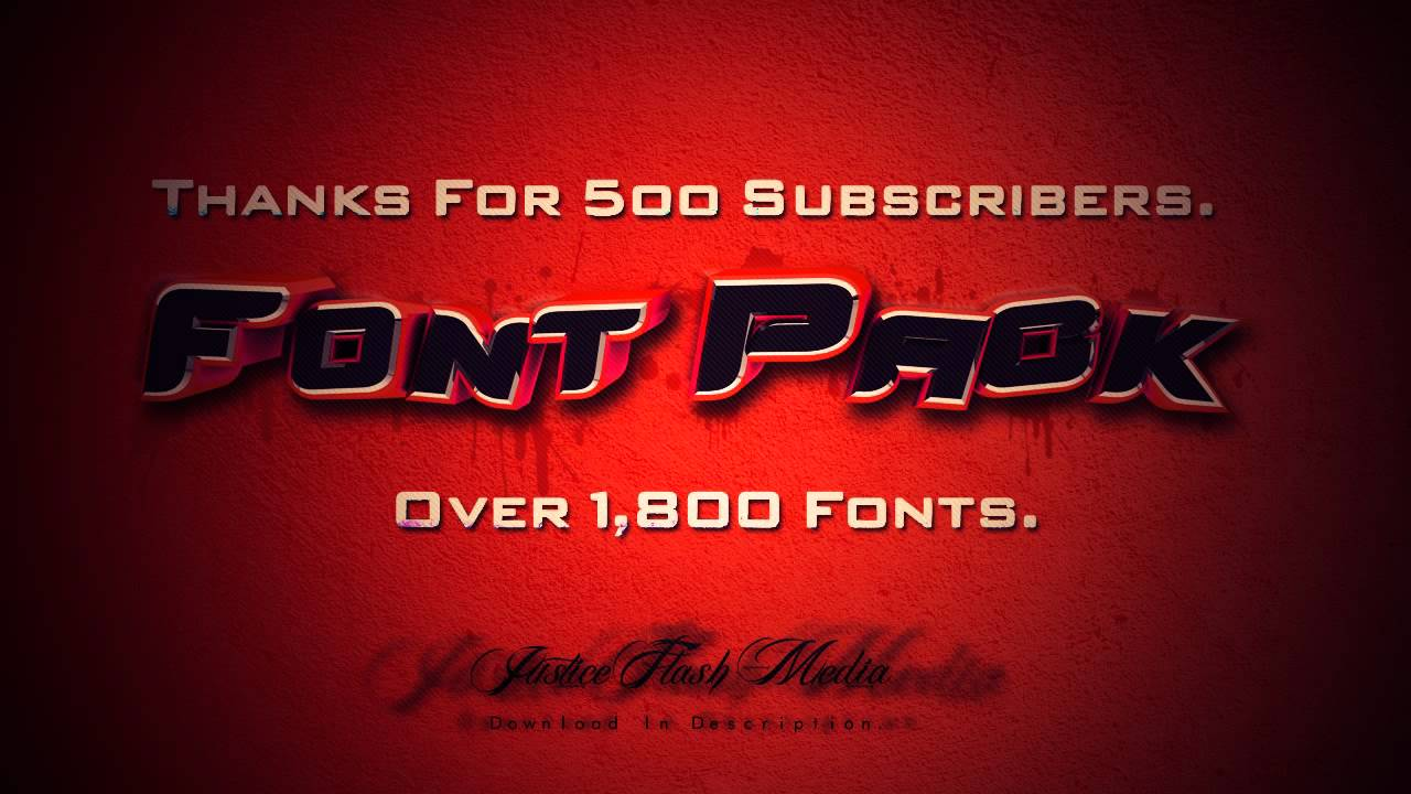 500 Fonts Pack Free Download
