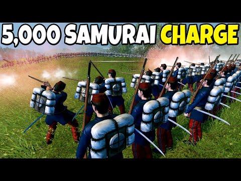 5,000 SAMURAI Charge 1,000 RIFLEMEN! - Total War: Shogun 2 Battle Simulator  