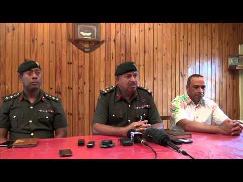 Fijian Army Commander's press statement on Fiji troops in Syria.