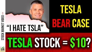 Tesla Stock to $10! Huge Bear Analyst (And My Thoughts) 🚨