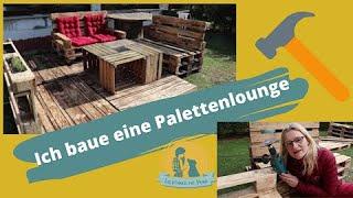 Ich baue ein Paletten Lounge  Sitzbank aus Paletten bauen  Terasse aus Paletten  Sitzgruppe bauen