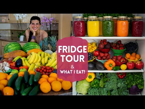 Fridge Tour + What I Eat | FullyRaw Vegan Food Haul