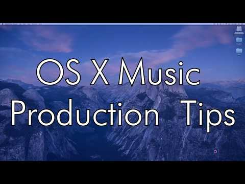 OS X Music Production Tips