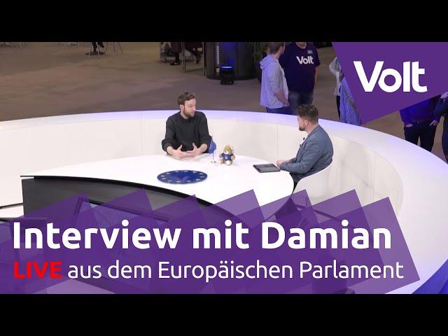 6 Monate Volt im Europaparlament! Interview mit Damian | #VoteVolt #JoinTheChange