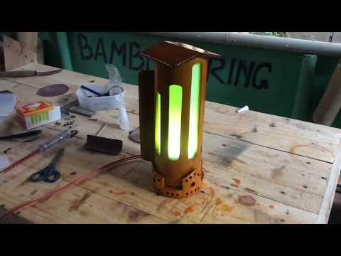 Cara Membuat Lampu Hias Dinding dari Bambu
