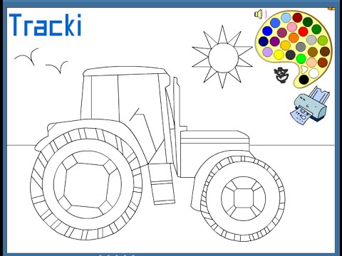 Tractors Coloring Pages For Kids Tractors Coloring Pages Youtube