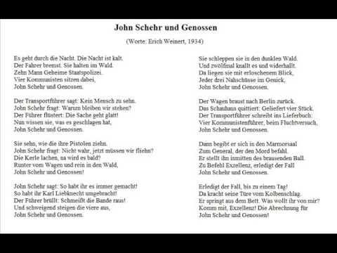John Schehr Und Genossen