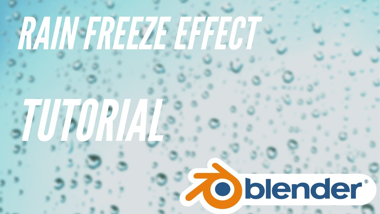 Rain freeze effect in Blender 2.81 | Turorial
