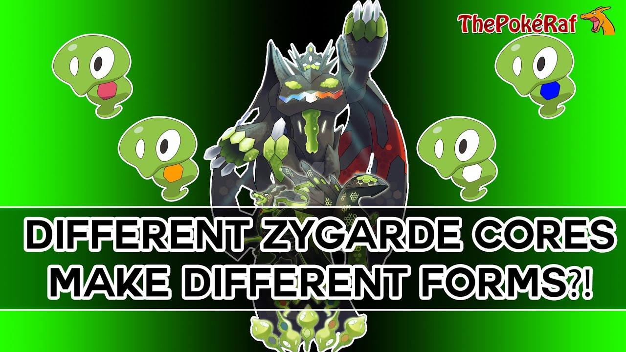 Pokémon XY & Z | Different Cores = Different Zygarde Form?! Blue ...