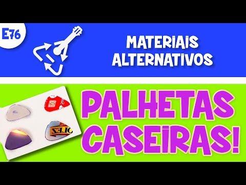 🔥E76 - Palhetas Caseiras! Qual o melhor material para improvisar uma palheta reciclada?