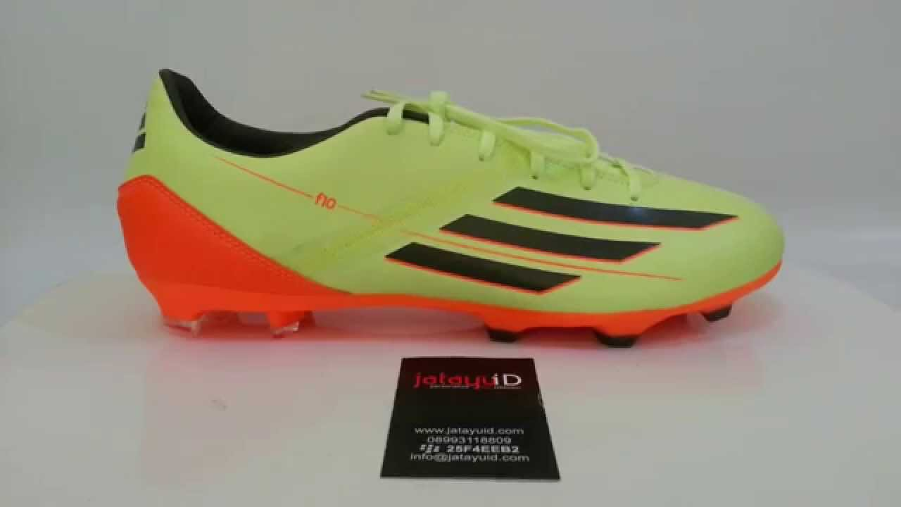 5d73de181b5 ADIDAS Adizero F10 TRX FG (Earth Pack) - Glow Earth Green Solar Zest -  YouTube