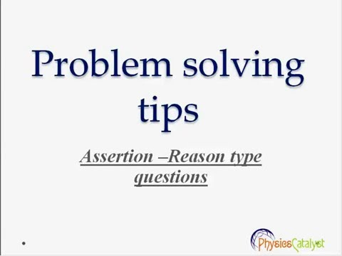 ASSERTION AND REASON PDF