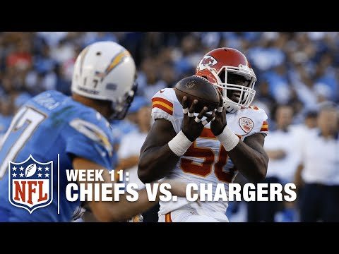 Justin Houston Intercepts Tipped Pass & Rumbles in for the TD! | Chiefs vs. Chargers | NFL