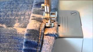 Bainha de calça jeans original por Gisele Cole