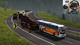 Scania vs Volvo bus Race on Highway | Euro truck simulator 2 with bus mod | indian bus driver