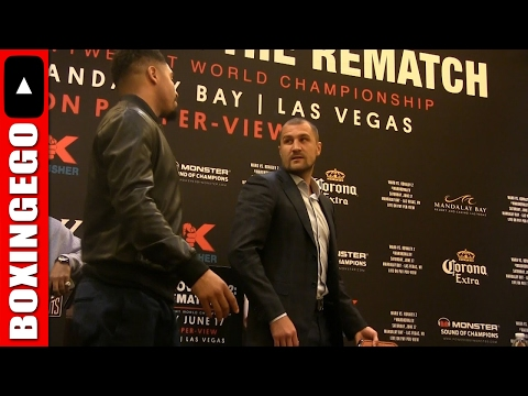 "(WOW!!!) KILLER FACE-OFF SERGEY KOVALEV THREATENS ANDRE WARD MUMBLES SOMETHING ""BE READY!"" PROMISES"