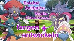 Sniebel, Snibunna, Iscalar und Calamanero fangen + entwickeln | Pokemon Schwert und Schild