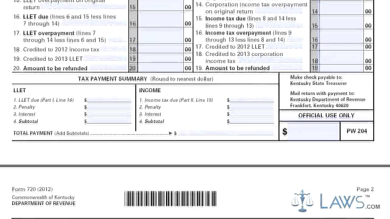 Form 720 kentucky corporation income tax youtube form 720 kentucky corporation income tax falaconquin