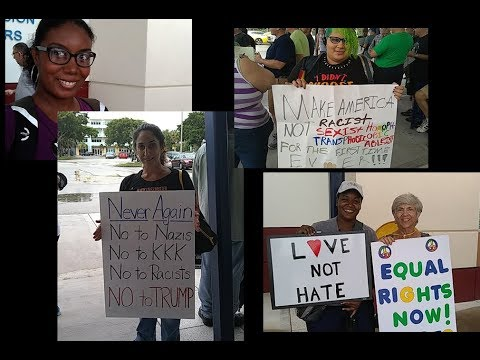 Alexandra Mayers LIVE: August 27th Wilton Manors, FL peaceful anti-Trump protest