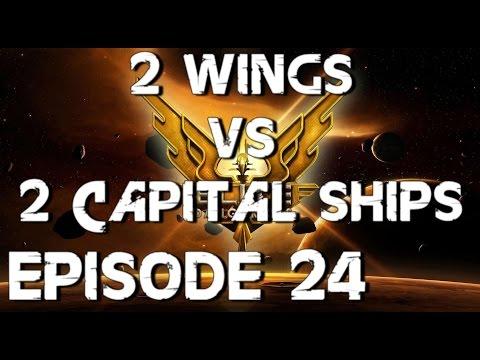 Elite Dangerous - Let's Play - 2 Wings Vs 2 Capital Ship - Episode 24 FR