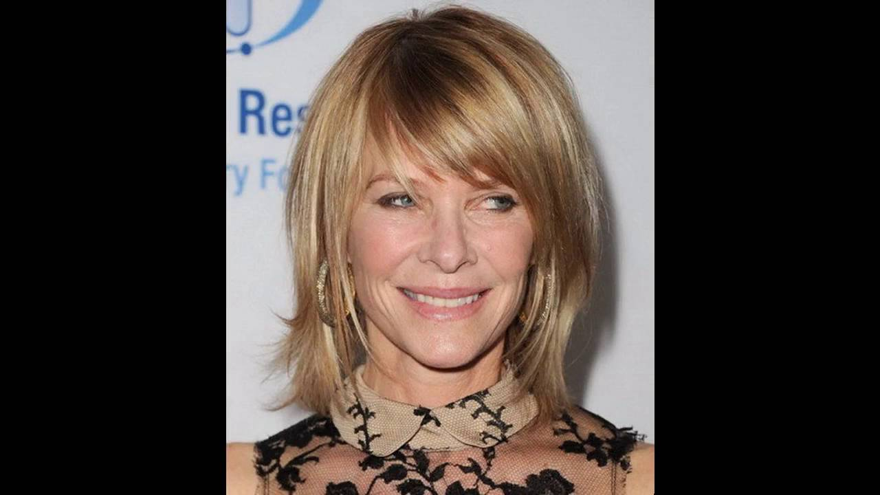 medium hairstyles for fine hair with bangs - youtube