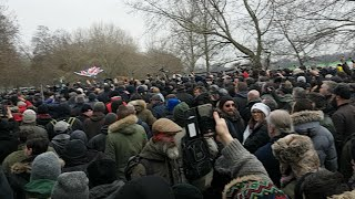 Tommy Robinson Supporters Arrive In Numbers thumbnail