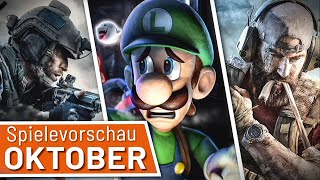 Neue Spiele im Oktober: CoD: Modern Warfare, Luigi's Mansion 3, Ghost Recon Breakpoint uvm.