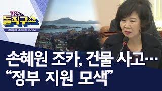 """손혜원 조카, 건물 사고…""""정부 지원 모색""""   김진의 돌직구쇼"""