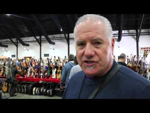 Norm shopping at the Vintage Guitar Show 2016