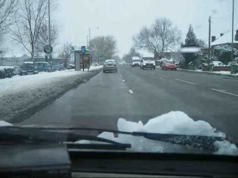 05th Feb 2009 - The Day It Snowed. Bicester Road, Aylesbury - Dashcam